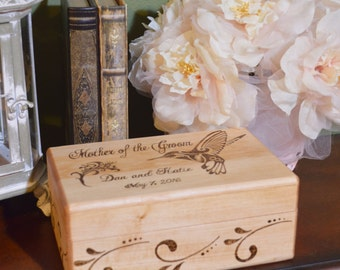Wood Burned Personalized Couples Box