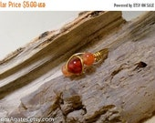 On Sale Wire Wrapped Brass Agate Pinky Finger Toe Ring size 8