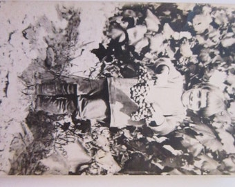 vintage photograph - child holding GRAPES, vineyard photo - black and white, vintage photo