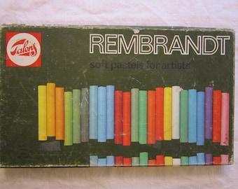 vintage Talens REMBRANDT soft pastels - 60 stick size, used