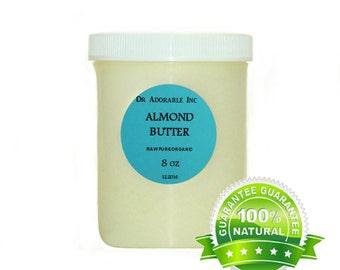8 Oz  Raw Pure Organic Almond Butter