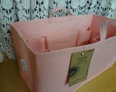 Purse/Diaper Bag Organizer Shaper/ 14.5x7x7H /PASTEL PINK/Fits Neverfull GM/Stiff wipe-clean bottom, handles & 2 bottle loops/ Ready to ship