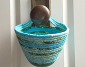"Hanging Organizer - Key Storage - Door Knob Organizer - Coat Hook Basket - The ""KNOB FOB"""
