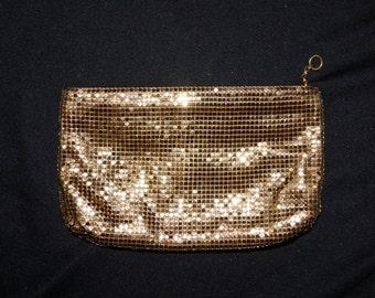 CLEARANCE SALE Vintage Duramesh Clutch Purse / Gold Mesh Evening Bag / Duramesh Fifth Avenue Mesh Chainmail Clutch