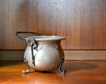 vintage metal cauldron - AS IS