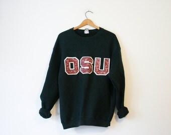 Vintage Black Ohio State University Buckeyes Sweatshirt