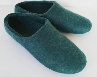Woollen clogs Felted merino wool Slippers / House shoes Ladies perfect Valentines day gift UK seller