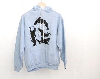 vintage ORCA hoodie FADED blue sweatshirt