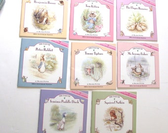 Beatrix Potter 100th Anniversary, 8 Book Set with Over 200 Stickers (A1)