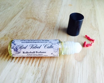 Perfume Oil - Red Velvet Cake - Vegan perfume, red velvet cake perfume, sweet perfume, chocolate perfume, roll on perfume, bakery perfume