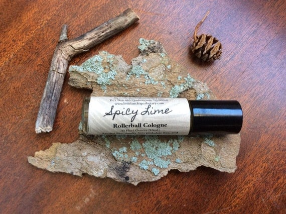 Spicy Lime Cologne, Fragrance For Men, Roll-On masculine manly spice robust warm classic citrus fresh clean