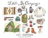 SALE 50% off: Let's Go Camping 2017 Calendar