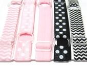 Set of 5 - Pink & Black, Preppy, Neopolitan Adjustable Elastic Headband Hair Band Girl Baby Woman Headband Sport Headband