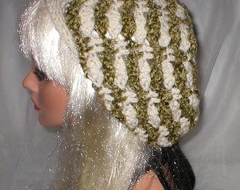 20% OFF SALE Crochet Women's Aran Basil Chenille Slouchy Hat Beret Slouch Hat