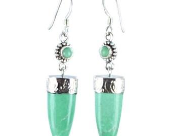 Variscite Sterling Earrings 2 Stone