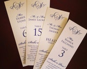 NEW - Photobooth Escort / Place Cards - Frameable 2x6 - DEPOSIT listing - non-refundable