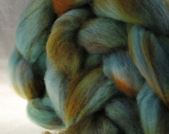 Dyed to Order  Mixed Natural BFL Wool Top Hand Dyed Roving Spinning Fiber - KOI POND 4.0 oz