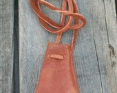 ON SALE Leather neck pouch