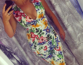 Floral Iconic print wiggle dress