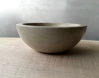 Small Minimalist Concrete Bowl