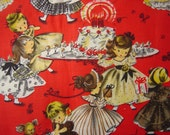 Retro Fabric Print - Children at Play - Adorable - 100% Cotton Yardage