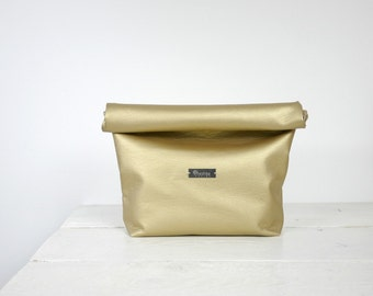 Gold Lunch Bag | Gold bridesmaid purse | Gold lunch purse | Gold clutch | Gold party clutch