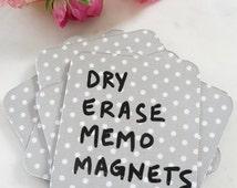 Home Office Decor | Kitchen Organization | Gray Polka Dot Home Decor | Dry Erase Magnets | Memo Magnets for Teacher Gifts | White Board