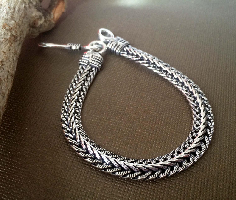 mens silver rope chain bracelet men silver bracelet
