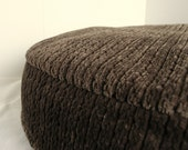 DOG BED COVER    Soft Tree Bark Brown Upholstery 30 round