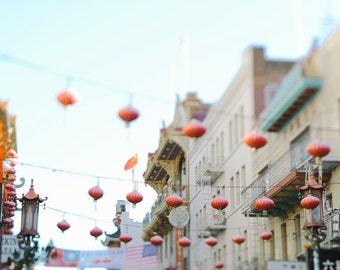 Chinatown ||| Lanterns in Chinatown | Travel Fine Art Photography | California Wall Decor | Red Lanterns | Magical