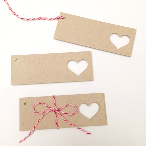 Wedding Heart Gift Tags : Heart Gift TagsSet of 10Heart Favor TagsWedding Favor Tags ...