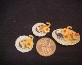 3pc Halloween cookie set in porcelain cat design plates fimo cat cookies  IGMA Fellow J Uyetake