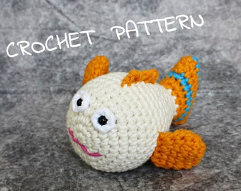 Amigurumi tropical fish stuffed toy crochet pattern pdf tutorial US English