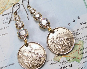 Spain, Vintage Coins - - The Kingdoms of Old Spain - - Eagle - Old Money - Old World - International Travel - Travel Gifts