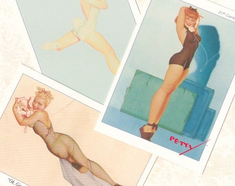 "PIN-UP CARDS, Complete Deck of ""The Petty Girls 2"", George Petty, 1995, Vintage Girlie, Glamour Art"