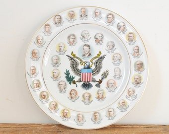 Vintage 200 Years of Presidents Collectible Plate 1970s Political Collectible Jimmy Carter 1977 US Politics