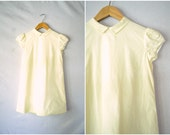 1950s banana yellow girls dress / cotton day play dress / 6x