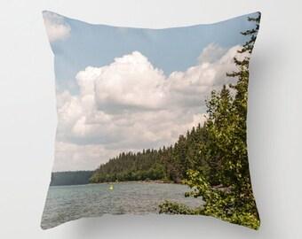 Beach Pillow Case, Decorative Throw Cushion Cover For Sofa at Resort, Cottage Chic Decor, Cabin, Nautical Blue, Cabin Theme Throw Pillows