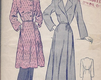 Vintage 1950's Misses Robe Pattern, Two Lengths, Butterick 2694