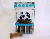 Cookie Jar, Dog treat jar, painted cookie jar, Storage jar, Air tight jar