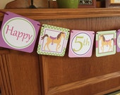 Pony Party Banner, Baby Shower Banner, Welcome Home Baby Banner, party Decoration, Happy Birthday Banner