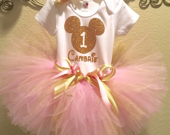 Minnie Mouse, First Birthday Tutu Outfit,  First Birthday, 2nd Birthday, Minnie 1st Birthday, 3rd Birthday, 4th Birthday, 5th Birthday,