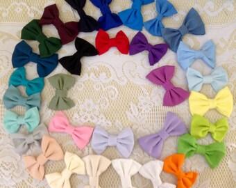 Fabric Hair Bow, Hair Clip, Red hair bow, purple hair clip, Bow pony tail