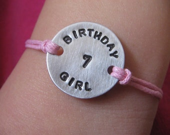 Personalized Hand Stamped Birthday Bracelet - Custom Bracelet - Personalized Birthday Bracelet - Birthday - Birthday Girl - Birthday Boy