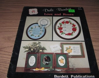 Vintage LOVE and ROSES Dale Burdett 1986 Cross Stitch Pattern
