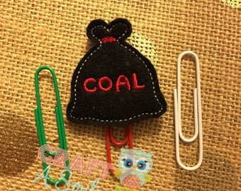 Planner Clip/Accessories - Coal Bookmark For Personal Planners, Calendars, Reading Books, etc