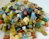 Destash (50+) Small Semiprecious Stone Chip Beads Mix - stone, gemstone - jewellery making, crafts, scrapbooking
