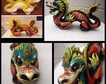 Custom - Sugar skull dragon