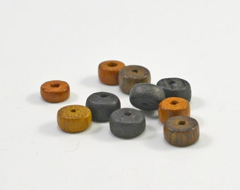 wood rounds, mixed colors, 8mm #1402