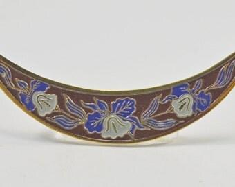 Brass Cloisonne pendant, 14x65mm - #1577
